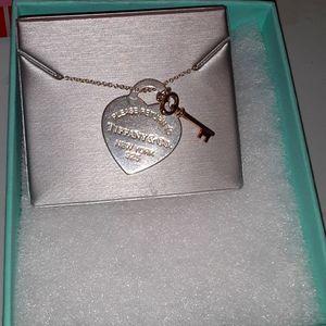 Tiffany & Company Heart and Key Necklace on 16 inc